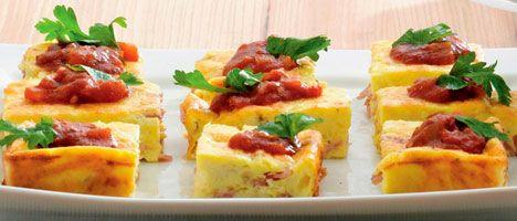 Lækker bagt æggekage - ideel til brunch
