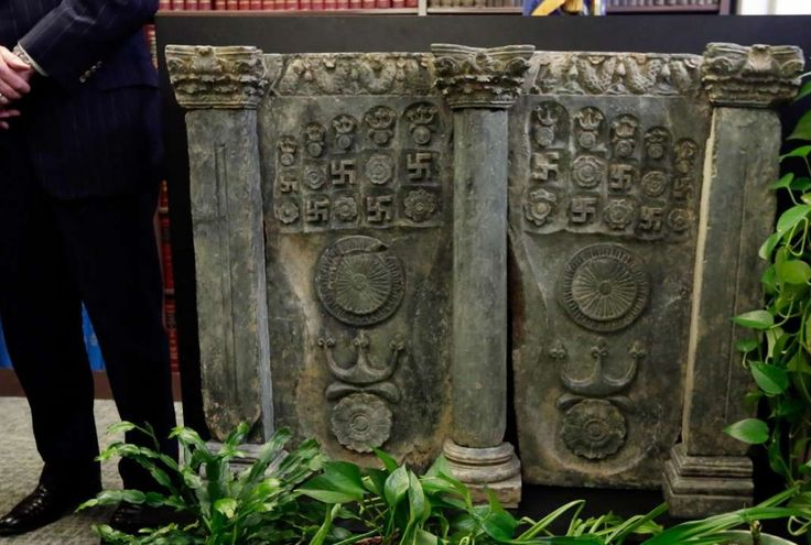 An ancient stone sculpture of Buddha's footprints that was smuggled into the United States and had been expected to sell for more than US$1 million was returned to the government of Pakistan on Wednesday. The piece, called a Buddhapada, was taken from a Pakistani region rich in Buddhist history decades ago. It's an ancient piece that speaks to the history and culture of Pakistan that should be celebrated and protected.