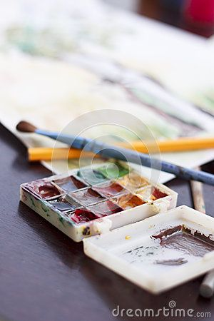 Water color paints used for painting