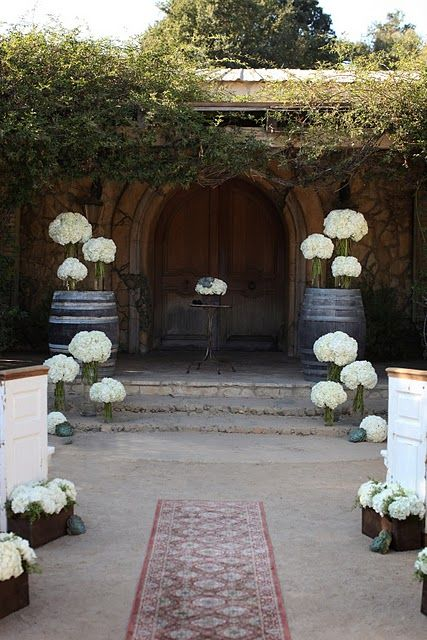 Wine Barrels Altar Decor