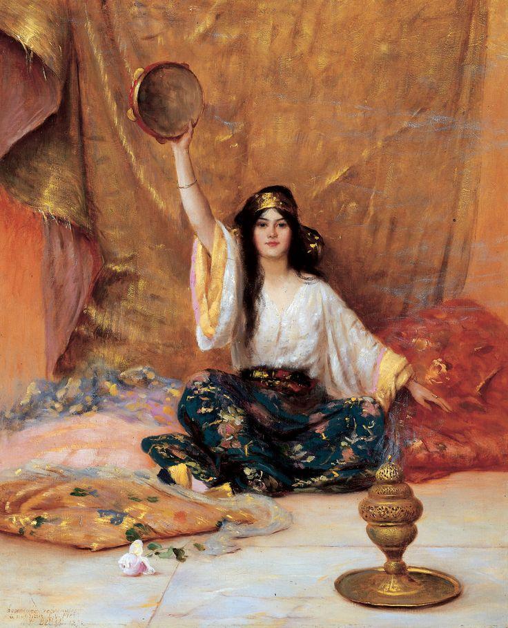 Pierre Bellet (French, 1865-1924). Femme au tambourin. Djillali Mehri Collection
