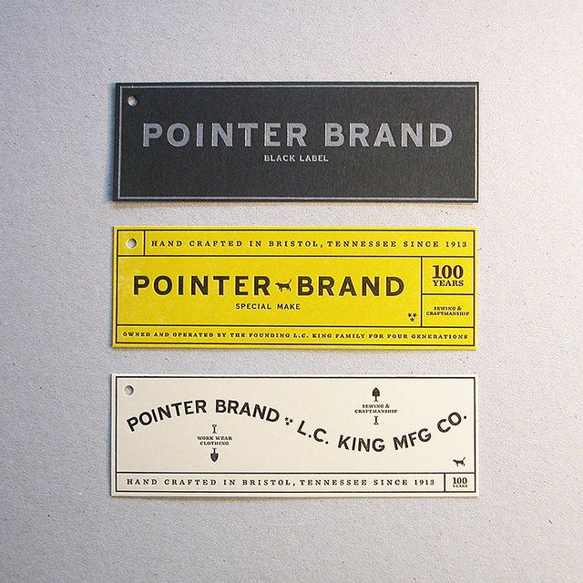 Pointer Brand Hang Tags by Cranky Pressman, via Flickr