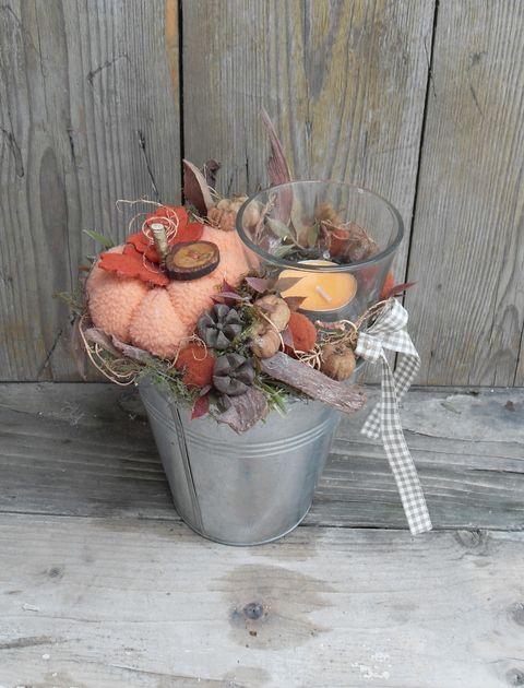 Tök szezon - őszi asztaldísz mécsessel, Dekoráció, Otthon, lakberendezés, Gyertya, mécses, gyertyatartó, Meska
