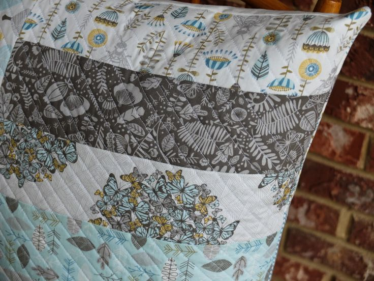 Quilted Floor Pillow Cover Tutorial with Norwegian Wood fabric from Hawthorne Threads DIY ...