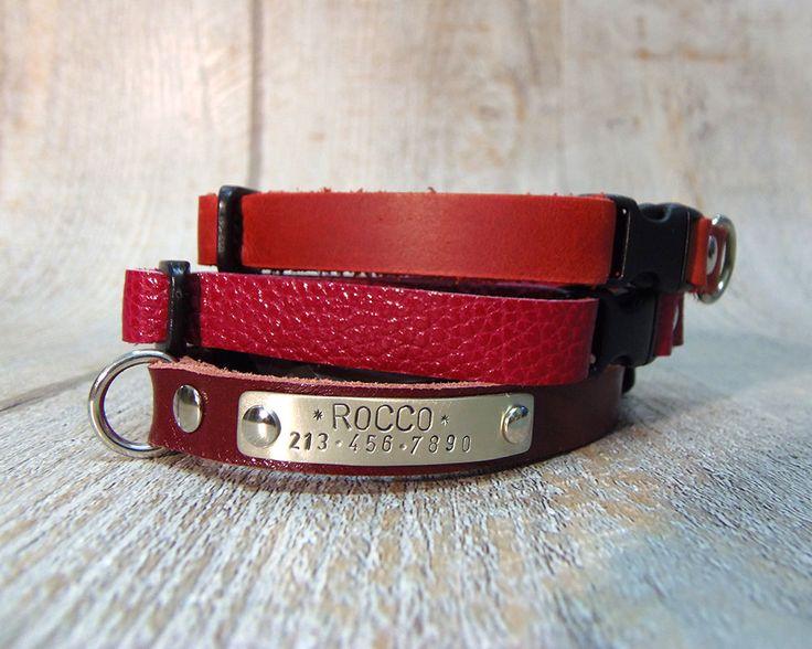 Small Dog Collar, Breakaway collar, Cat Collar Breakaway, Personalized Cat collar, Personalized Dog Collar, Pet Gift, Cat Collar, Dog Collar by VacForPets on Etsy