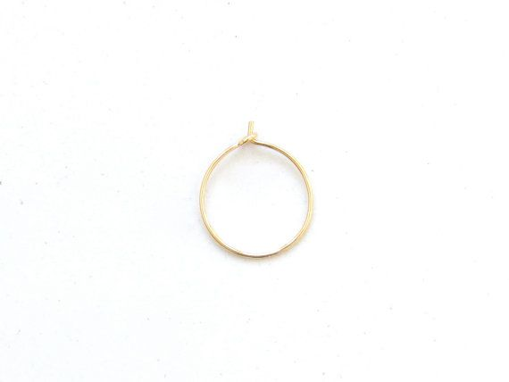 thin GOLD nose ring hoop - tarnish resistant - 14k gold filled 26g