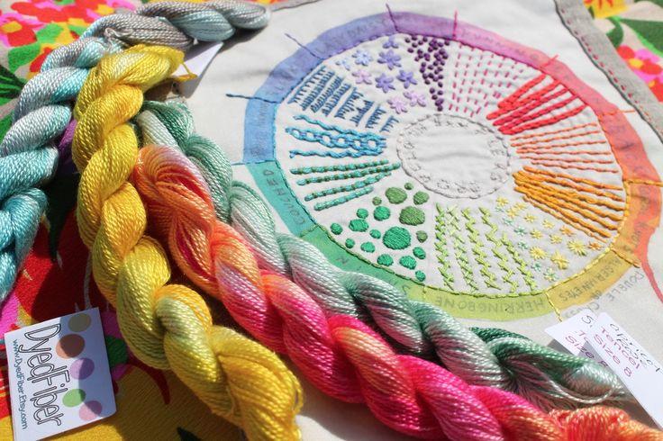 drop cloth: Thread + Sampler = Giveaway! YUMMY COLORS!