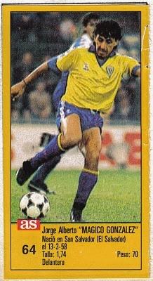 """Jorge """"Magico"""" Gonzalez: Un jugador de medias bajas, bohemio, con una habilidad de potrero increibles, capaz de sentar el solo a un Real Madrid con su talento, tanto es asi que un tal Diego Armando Maradona dijo una vez que Magico esta dentro de los diez mejores jugadores de la historia. El mejor jugador Salvadoreño de la historia, y un crack sin duda."""