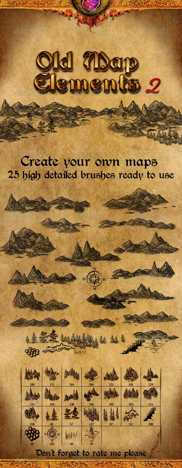 Old Map Elements 2