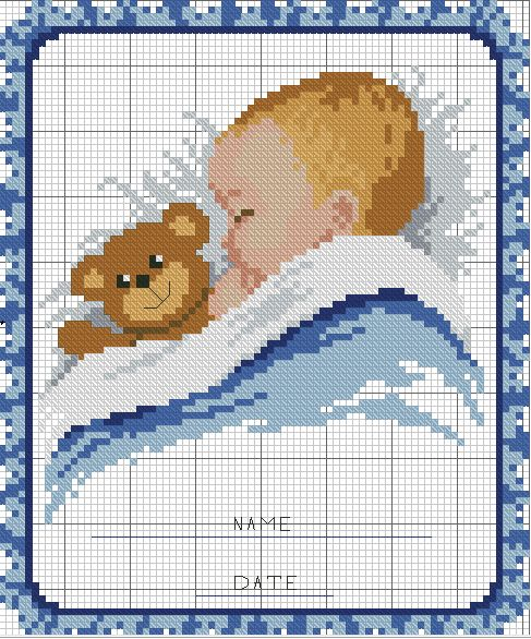 Eccezionale 367 best cross stitch baby images on Pinterest | Cross stitch  PL79