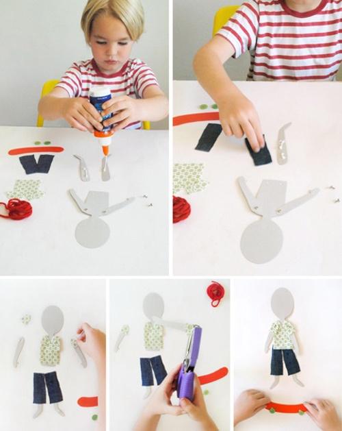 Fun Craft for Kids - DIY Articulated Paper Dolls