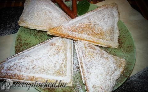 Almás táska szendvicssütőben recept fotóval