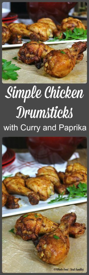 Simple Chicken Drumsticks with Curry and Paprika is a family favorite. Perfect recipe for an easy weeknight meal or hanging out by the grill on the weekend.