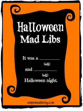 Halloween Mad Libs | Are We There Yet?
