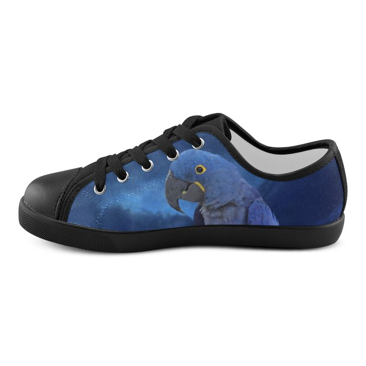 Hyacinth Macaw Canvas Kid's Shoes