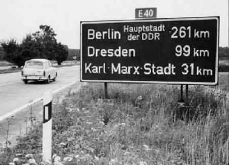 Deutsche Demokratische Republik Autobahnschild