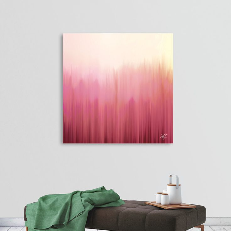 «Soft Pink Woods», Numbered Edition Canvas Print by Okti W. - From $49 - Curioos