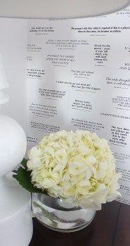 Master Decor, hydrangea, inspirational wall paper, black and white