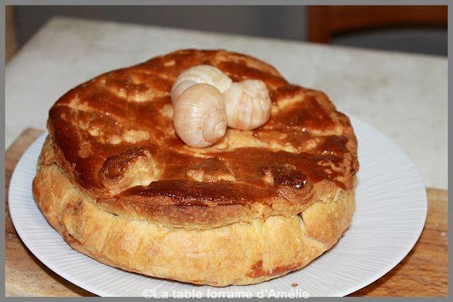 La Table Lorraine D Amelie Tourte Aux Escargots Recette Lorraine