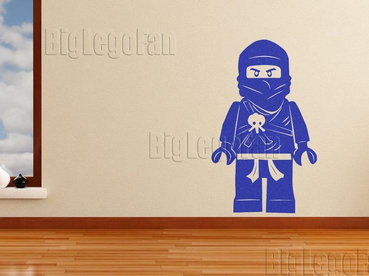 lego ninjago ninja go vinyl wall decal lego room pinterest