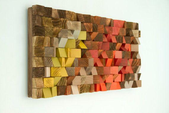 Hout Wall Art teruggewonnen hout kunst industriële