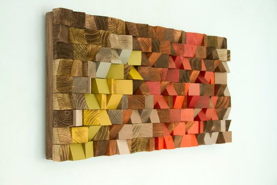 Wood Wall Art reclaimed wood art industrial decor