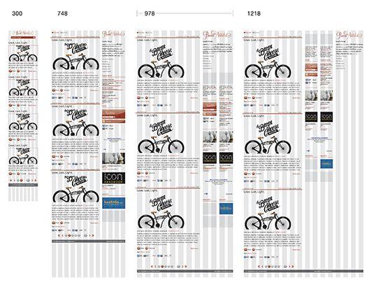 BrandAddicted website design layout