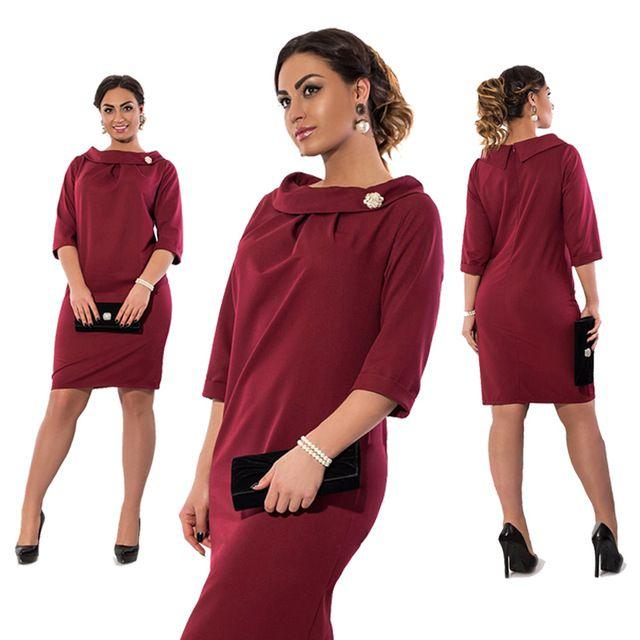 Dress tamaño grande 5xl 6xl de gran tamaño 2017 verano elegancia dress trabajo oficina dress straight dress mujeres de talla grande ropa vestidos