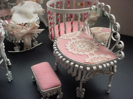 all things paper: Quilled Tin Furniture using tin cans instead of paper to make miniature furniture