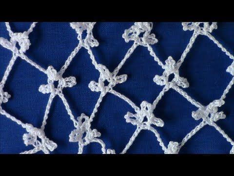 ▶ Irish Crochet Basics, Triple Picot ground - YouTube