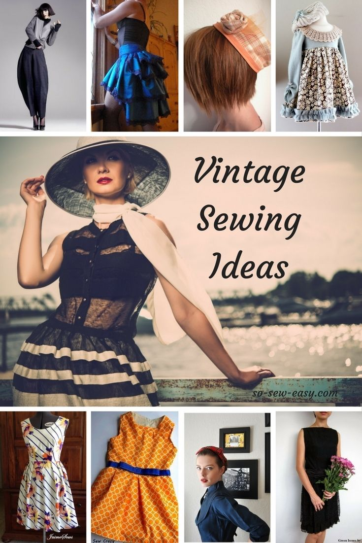 Vintage Sewing Ideas: Free Patterns Roundup http://so-sew-easy.com/vintage-sewing-ideas-roundup/?utm_campaign=coschedule&utm_source=pinterest&utm_medium=So%20Sew%20Easy&utm_content=Vintage%20Sewing%20Ideas%3A%20Free%20Patterns%20Roundup