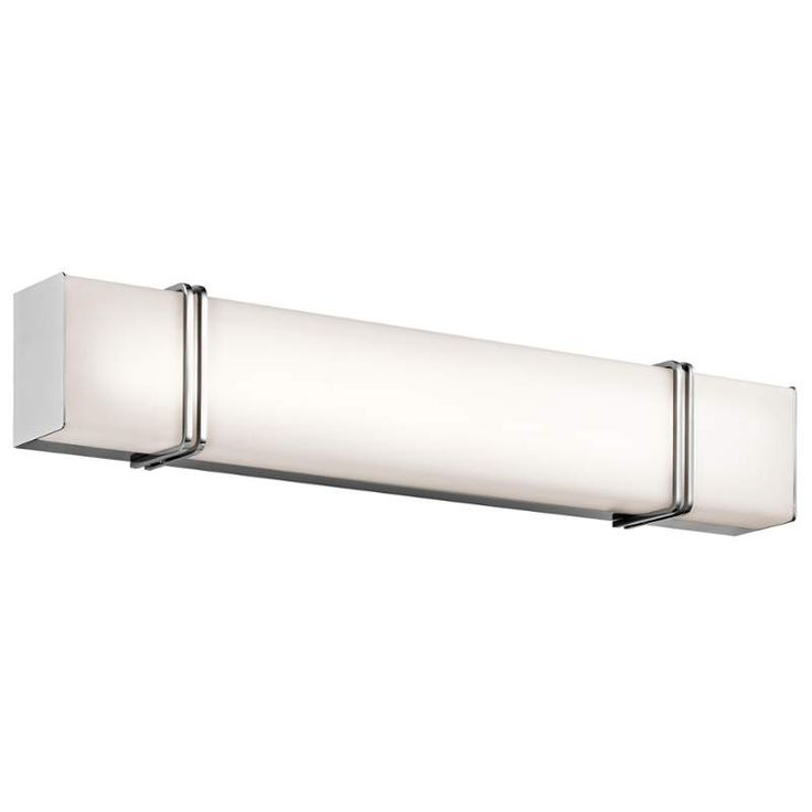 Pictures In Gallery View the Kichler LED Impello Light Wide LED ADA Compliant Bathroom Fixture with