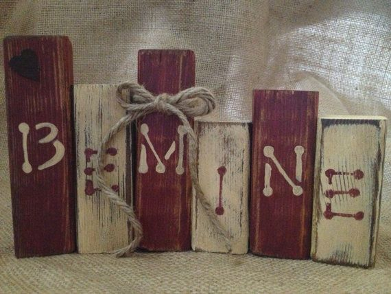 Primitive Valentine Be Mine Wood Shelf Sitter.. Not A Good Link But Too Cute