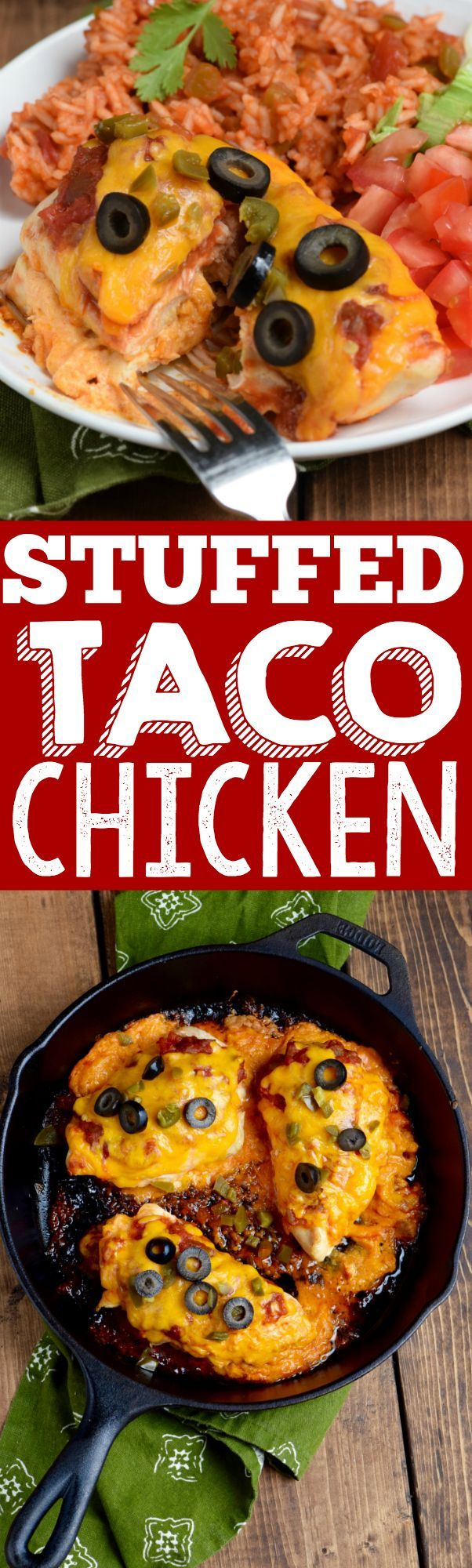This Stuffed Taco Chicken is a super easy dinner, ready in 30 minutes ...