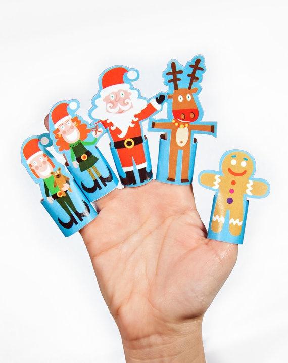 Toy Diy, Diy Crafts, Pdf Toy, Christmas Paper, Paper Toys, Finger ...