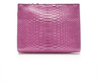 Hunting Season M'O Exclusive: Magenta Matte Python Cosmetic Clutch #1010ParkPlace