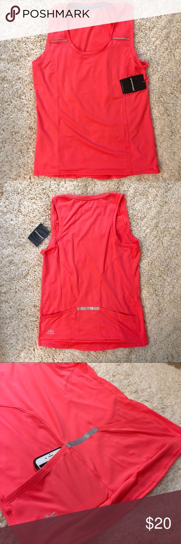 Performance - Sleeveless Cycling Jersey NWT. Never worn. 🚴🏼‍♂️ Semi-fitted; women's size L; color is listed as coral but it is more like a hot pink; has reflective details on shoulders and back pocket; 2 angled pockets (iPhone 6 for size reference); great for storing snacks, water bottle, or other necessities for your riding needs! Performance Bicycle Tops Tank Tops