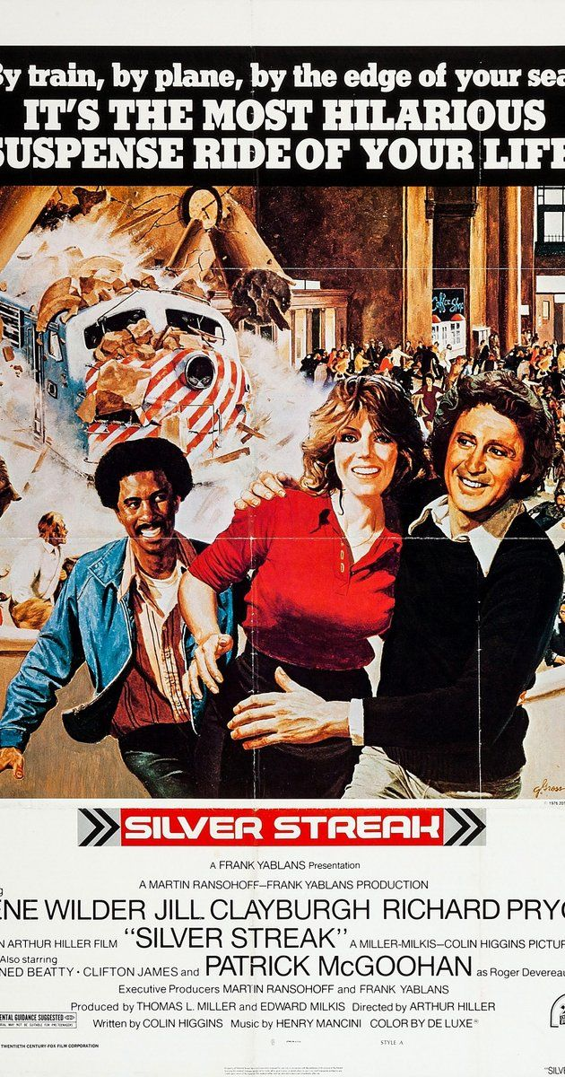 Directed by Arthur Hiller.  With Gene Wilder, Richard Pryor, Jill Clayburgh, Patrick McGoohan. On a long-distance train trip, a man finds romance but also finds himself in danger of being killed, or at least pushed off the train.