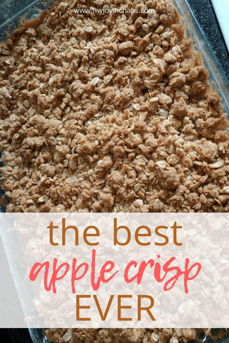 The Best Apple Crisp Ever {Recipe}