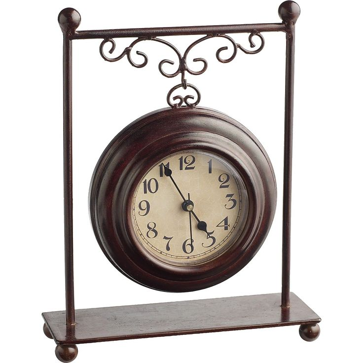 They'll never miss another meeting with the Pier 1 Hanging Iron Clock