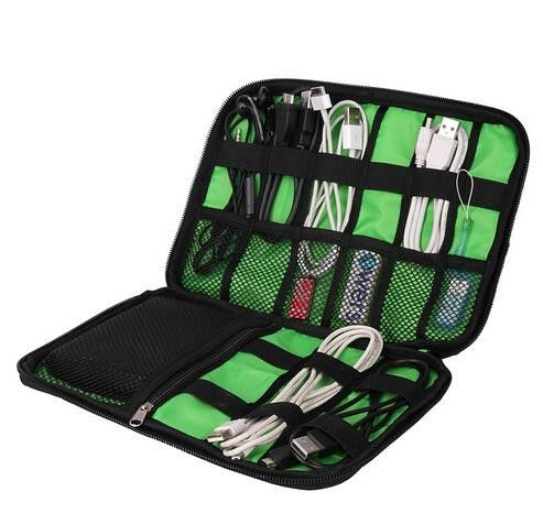 Data Cable, Headphones, Earbuds, USB, Power Cord Accessories Storage Bag/Organizer