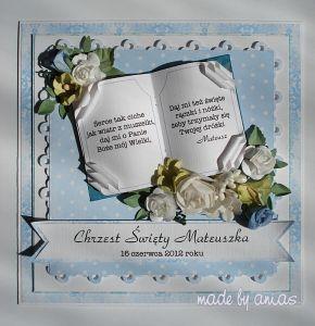 kartka na Chrzest Święty  - Kartki na Chrzest - Kartki - Scrapbooking