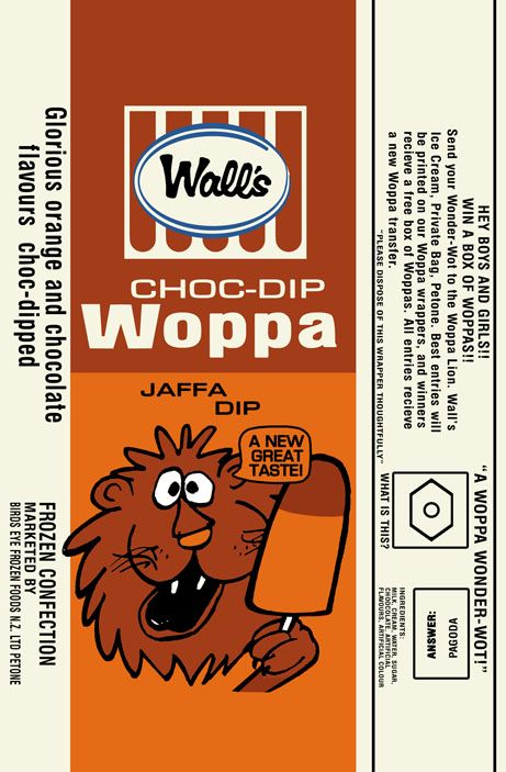 Wall's Double Woppa - jaffa dip 1970s - RECREATION copy