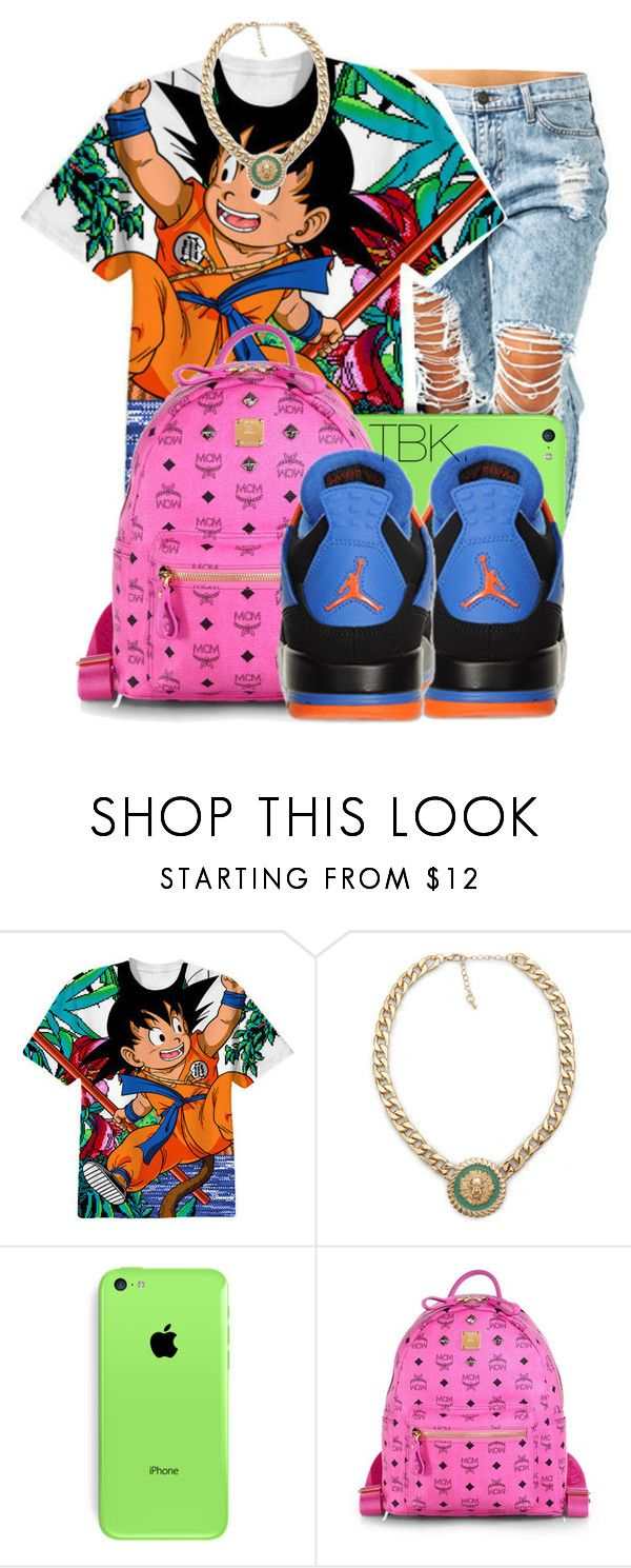 """Home. Watching DBZ."" by threadsbykeiko ❤ liked on Polyvore featuring Impulse, MCM and Retrò"