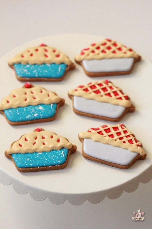 Pie Decorated Cookies   Sweetopia Repinned By: #TheCookieCutterCompany