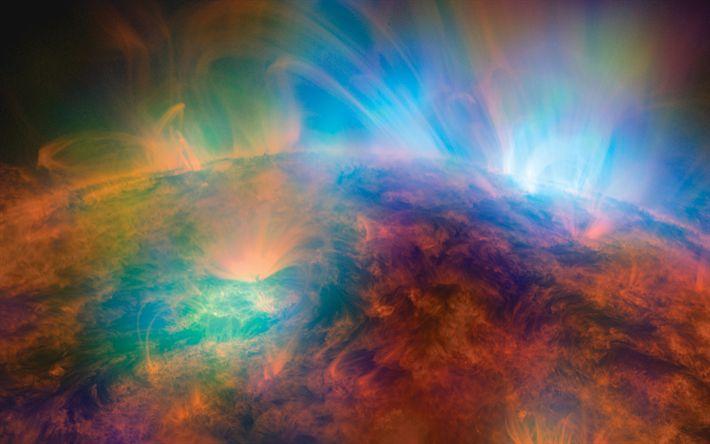Download wallpapers sun, 4k, galaxy, nebula, universe, solar system