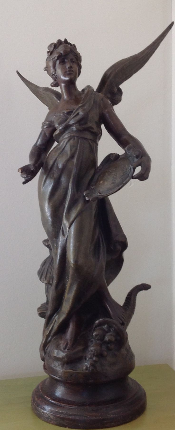 Statue of bronze by Moreau, winged woman