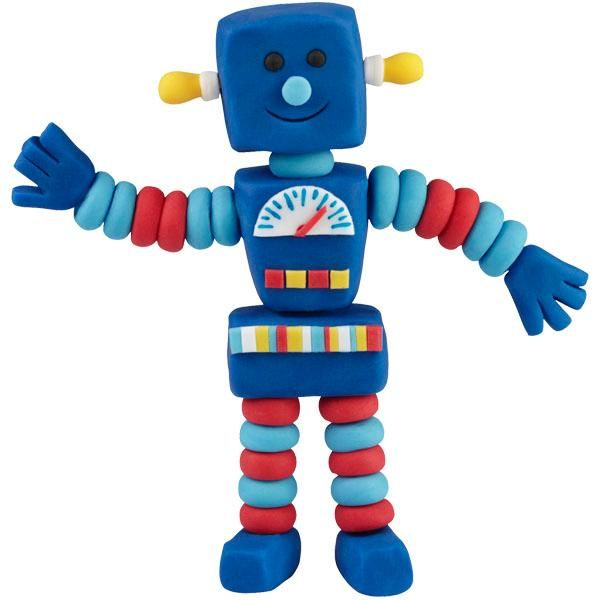 Rockin' Robot is sci-fi delightful when he tops a cake or treat! He's easy to assemble using The Wilton Method of 3-D Character Modeling online instructions.