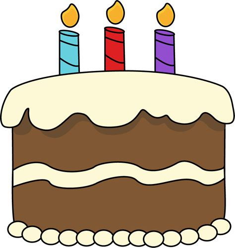 Birthday Cake Drawing | Chocolate Birthday Cake Clip Art Image - chocolate birthday cake with ...