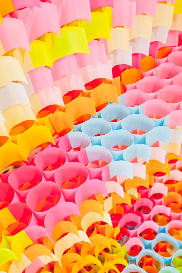 'post-it structures' by yo shimada of tato architects.: Sculpture, Paper Garlands, Posts It Note, Yo Shimada, Architects, Posts It Structure, Color Schemes, Art, Postit Note